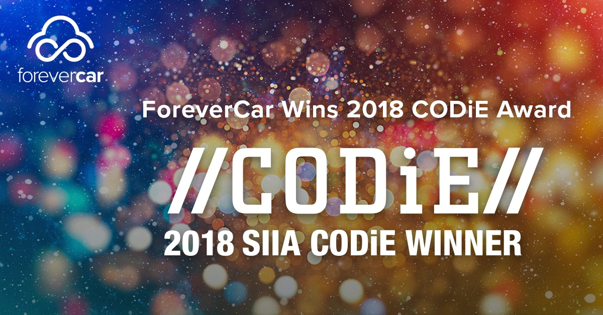 ForeverCar Wins SIIA Business Technology CODiE Award Finalist